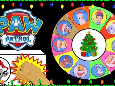 "PAW PATROL Spin the Wheel Game ""Christmas Naughty or Nice"" Surprise Toys XMAS Kids Games"