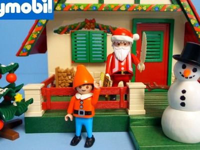 Playmobil Christmas Santa Claus House unboxing and playing | Playmobil 5976