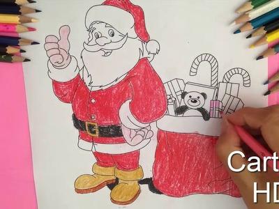 Santa Claus Coloring For Kids, merry Christmas,  - Cartoon HD #21 ✔