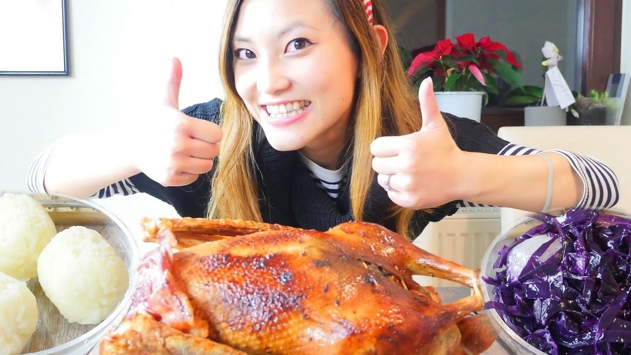 Traditional German Christmas food roast goose & red cabbage German recipe #17 德國傳統聖誕節晚餐