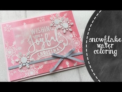 Using Embossing Powder To To Create A Pink Christmas Snowflakes