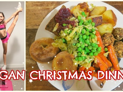 VEGAN CHRISTMAS DINNER | ELSIE'S NEW CHEER STUNT STAND