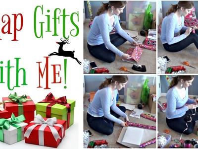 Wrap Gifts with Me:  Wrapping Christmas Presents | Speed Wrapping!