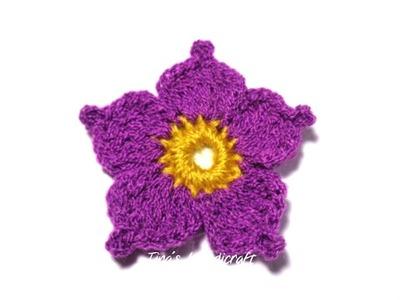 2D crochet flower