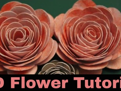 3d Flower Tutorial - How to make 3d roses from card - spiral image