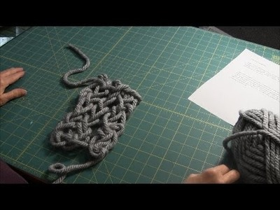 Arm Knitting (Part 3) - How to Bind Off