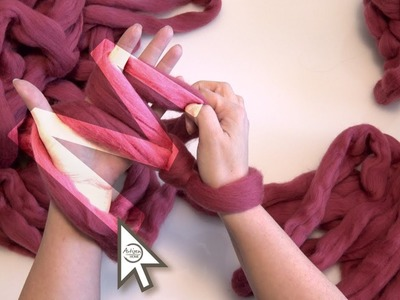 ArtizenHome: Arm Knitting with the M Method: First Row