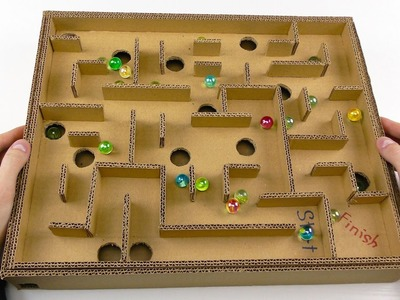 Board Game Marble Labyrinth from Cardboard | How to Make Amazing Game
