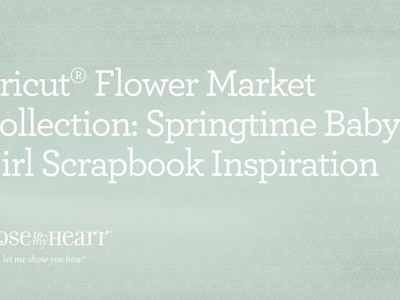 Cricut® Flower Market Collection: Welcome Home Baby Scrapbook Inspiration