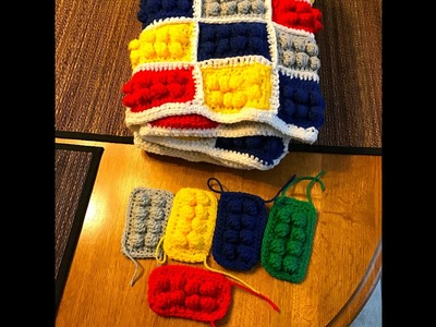 Crochet lego block tutorial