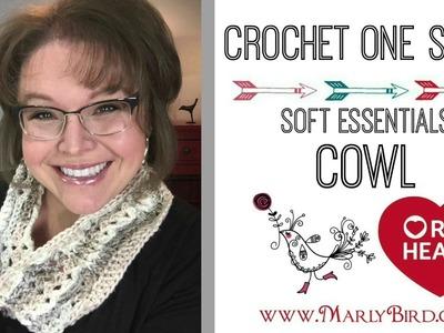 Crochet One Skein Soft Essentials Cowl