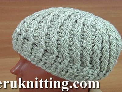 Crocheted 3D  Beanie Hat Tutorial 168 Crochet Puff Stitch
