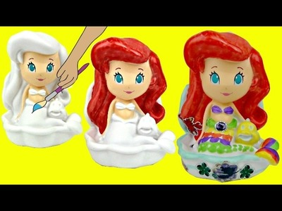 D.I.Y. Paint Your Own Princess ARIEL Vinyl Figure, Disney Kid Fun Craft Activity Coloring Toy. TUYC