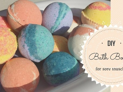 DIY Bath Bombs for Sore Muscles