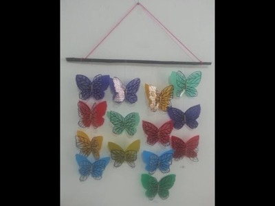 DIY Crafts - Home Decor - How to Make Handmade Butterflies with Plastic Sheets + Tutorial !