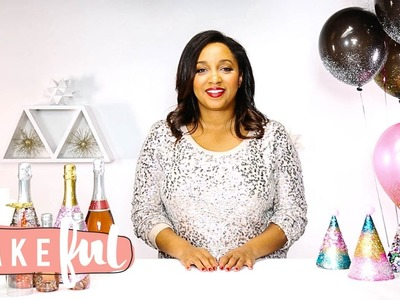 DIY Easy, Glam, Glitter Party Decor | Obsessed with Miss Kris
