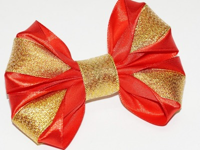 DIY for Girls. DIY crafts How to Make Simple Easy Bow. Ribbon Hair Bow Tutorial. Julia DIY