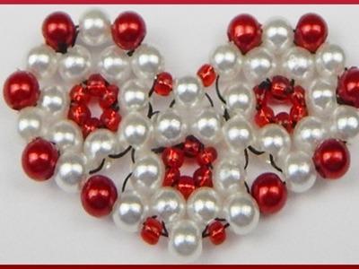 DIY | Herz aus Perlen basteln | Valentinstag | Beaded heart with pearls | Valentines day