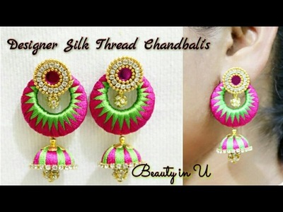 DIY | How to make Designer Silk Thread Earrings at Home | Tutorial