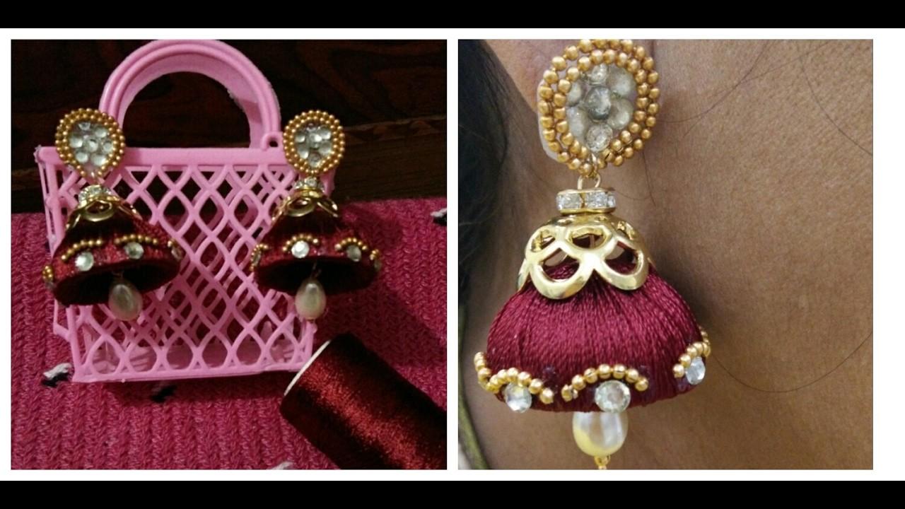 DIY how to make silk thread earring
