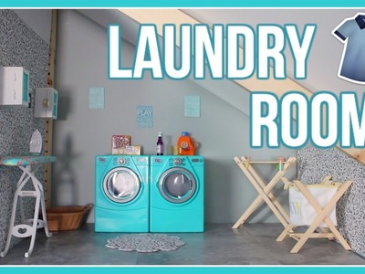 DIY LAUNDRY ROOM! | How to Make an American Girl Doll Laundry Room | #DeckOutTheDollhouse Ep. 2