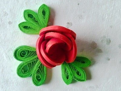 DIY Paper Rose | How To Make An Easy Paper Rose | Valentine's Day Crafts