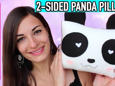 DIY Reversible Kawaii Panda Pillow Plush! Cute Room Decor Idea Stuffed Animal! Oreiller de Panda