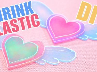 DIY Shrink Plastic Angel Wing Heart Tutorial {Shrinky Dinks!}