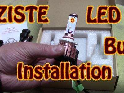 DIY Ziste 4K LED Light Bulb Headlight Bulb Installation  98 Chevy K1500 Headlight Bulb Replacement