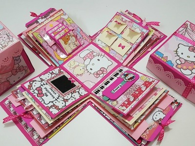 Explosion Box Tutorial. DIY Explosion Box.How to Make Explosion Box.DIY Birthday Gift