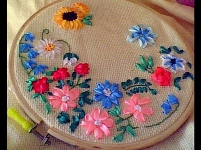 Hand Embroidery || How to Work With Ribbon for Embroidery