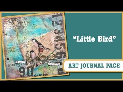 How to: Art Journal Page - Little Bird