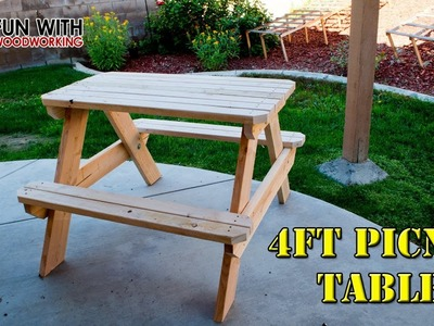 How to build a 4ft picnic table
