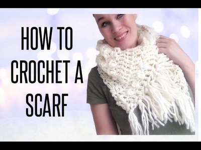 How To - Crochet A Scarf with fringes