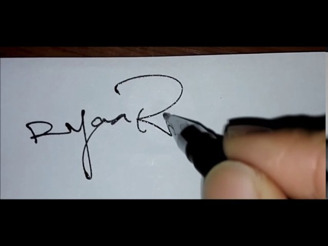 How to draw a smart signature!