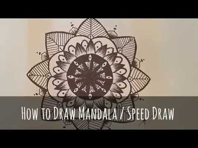 HOW TO DRAW Mandala. Speed Draw