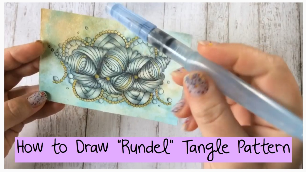 """How to draw """"Rundel"""" Tangle Pattern Lesson 15"""