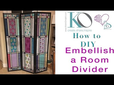 How to Embellish a Room Divider with Yarn Fabric Knitting Crochet and Sewing