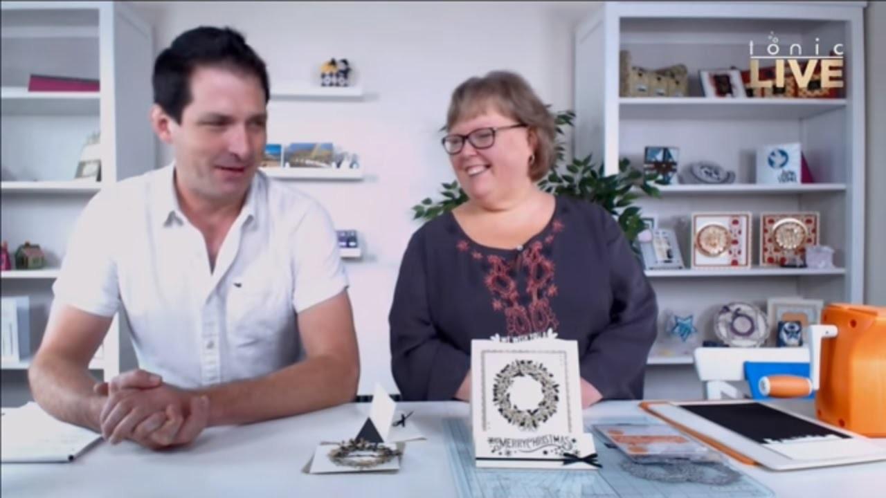 How to make a Christmas Header Fold Card! - Tonic Studios Live Papercraft Show No.20