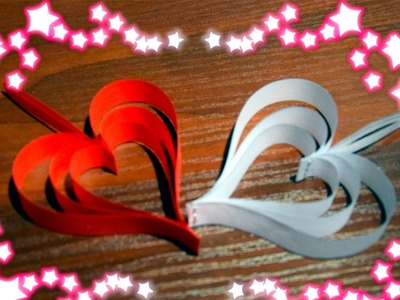How to make a heart out of paper with their hands (decoration)
