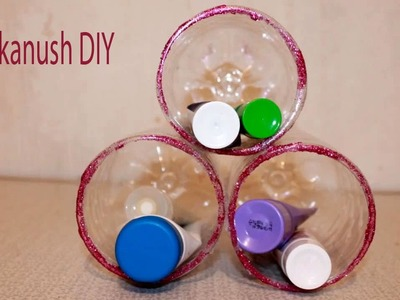 HOW TO MAKE A ORGANIZER FROM PLASTIC BOTTLES