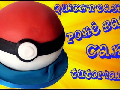 How to make a QUICK and EASY Pokeball Cake