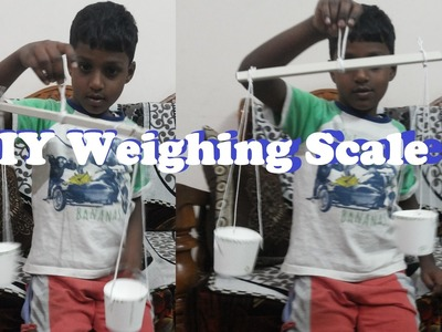 How to make a simple Weighing Scale or a Balance for school exhibition project | DIY Craft Project
