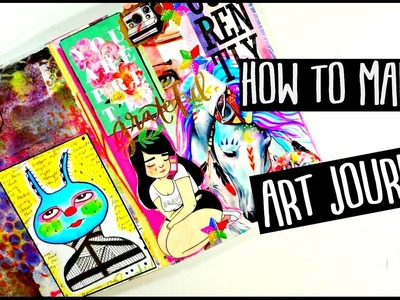 HOW TO MAKE AN ART JOURNAL | For Beginners | Process Video