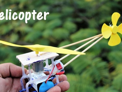 How to make helicopter using DC Motor