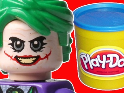 How to Make Lego Joker from Play Doh! The Lego Batman Movie Play-Doh Craft Videos |