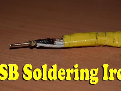 How To make Mini USB Soldering Iron - Homemade - Life Hacks