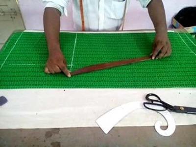 How to make narrow palazzo pants cutting in Telugu