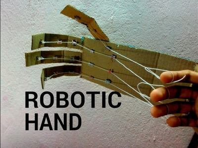 How to make Robotic hand with cardboard(science project)