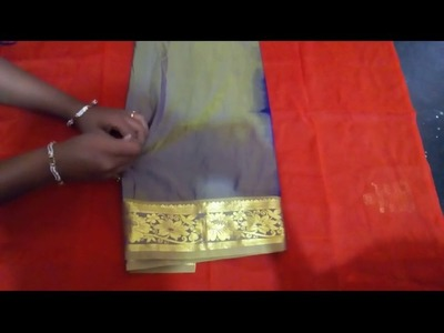 HOW TO MAKE SAREE KUCHU DESIGN USING BY SILK THREED-DESIN BY HOME